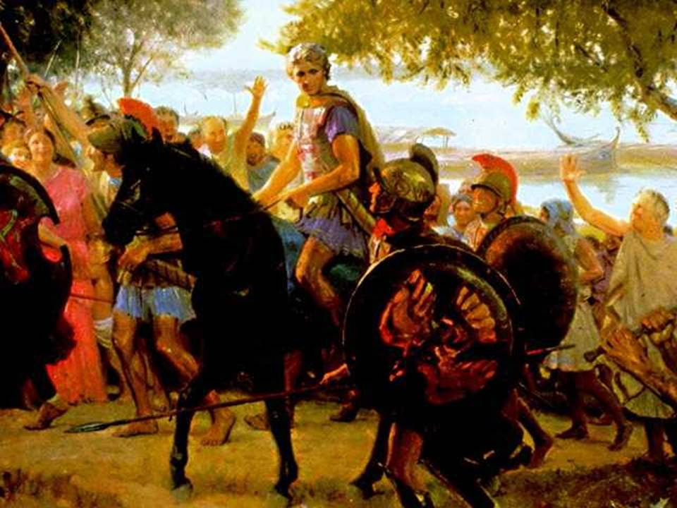 Македонский вернулся с походов и дал армии отдохнуть