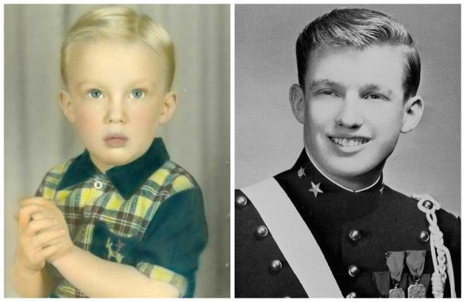 Фотографии Дональда Трампа в детские и юношеские годы