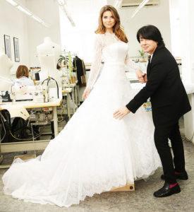 Свадебное платье, созданное Валентином Юдашкиным для дочери