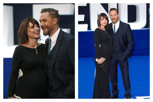 Том Харди с женой