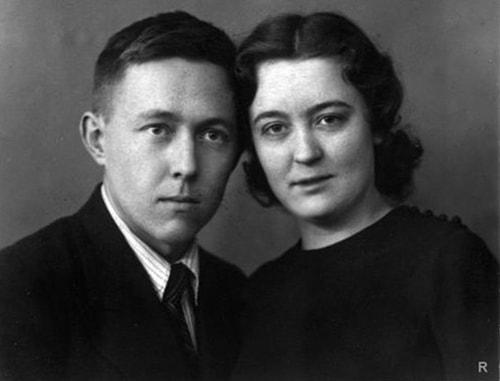 Александр Солженицин с женой