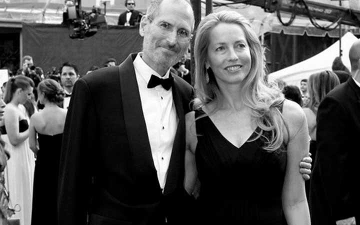 Стив Джобс с женой Лорен