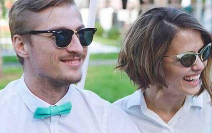 Любовь Аксёнова с мужем