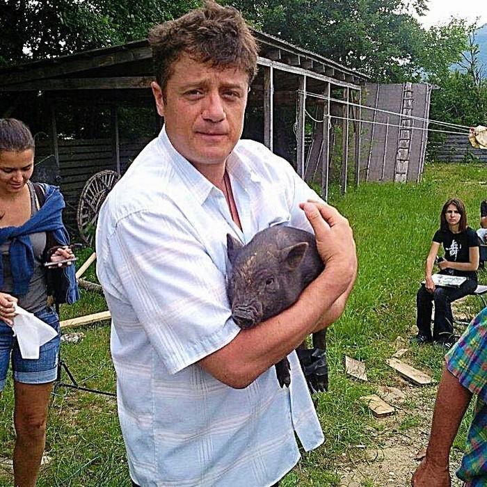 Алексей Макаров до похудения